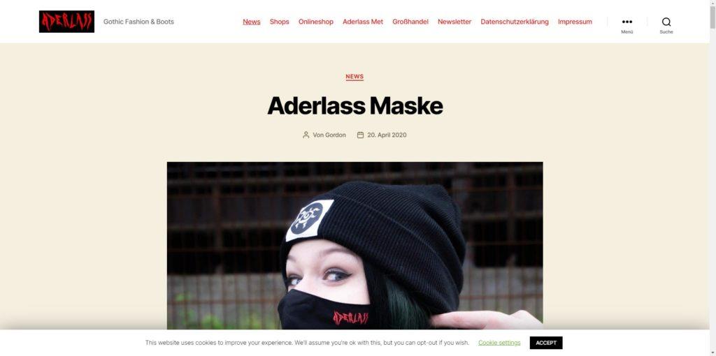 ADERLASS – Gothic Fashion & Boots