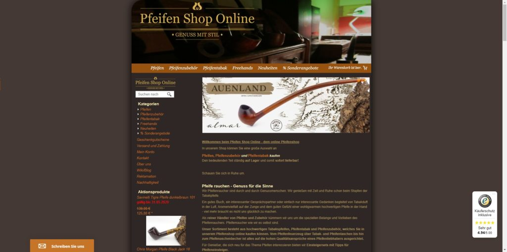 Pfeifen Shop Online